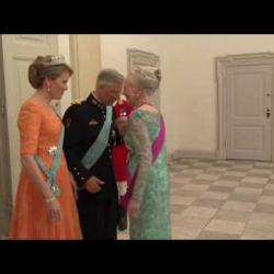 State dinner, Christiansborg Palace Copenhagen - Click to play this video in an overlay.